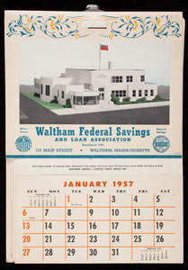 Town and country calendar for 1957, Brown & Bigelow, St. Paul, Minnesota, 1957