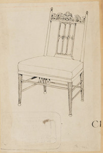 Gothic Revival-style Side Chair