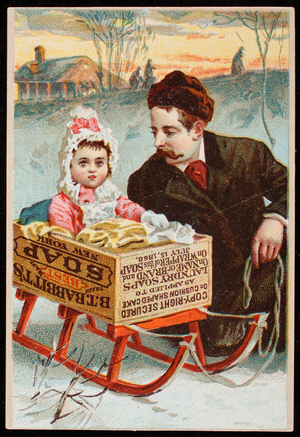 Trade card for Babbitt's Best Soap, B.T. Babbitt, New York, New York, 1868
