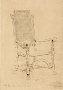 William and Mary-style Arm Chair