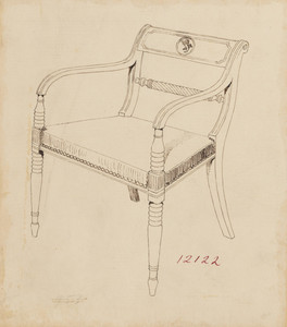 Neoclassical-style Arm Chair