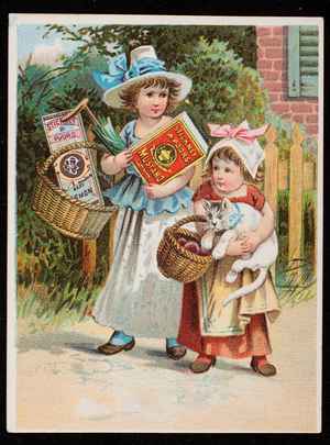 Trade card for Stickney & Poor's Mustards, Spices and Extracts, 205 and 207 State Street, Boston, Mass., undated