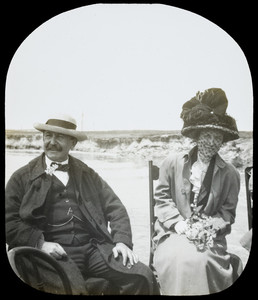 August Belmont and wife