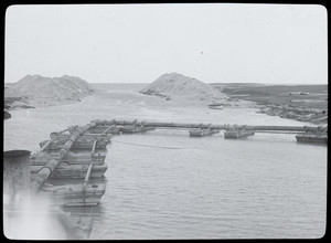 Construction of a pipe on the Cape Cod Canal
