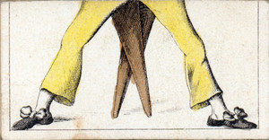 Mix and match game cards: male legs with yellow pants