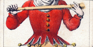 Mix and match game cards: torso of a jester