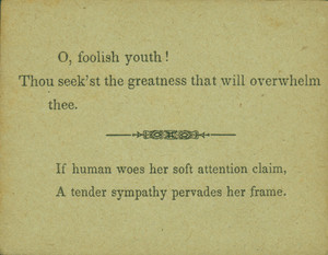 "Back of game card 34 from ""Characteristics; An Original Game by a Lady"""