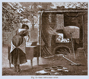 Detached oven, as published in The American agriculturalist, New York, New York, June 1873