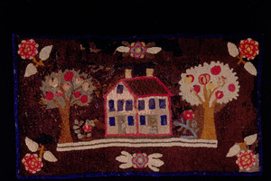 """Apple Tree Farm"" hooked rug, Cogswell's Grant, Essex, Mass., undated"