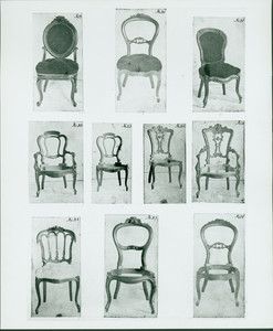 Chairs, no. 19 - 28, John A. Ellis furniture designs