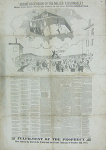Grand ascension of the Miller tabernacle! Miller in his glory, saints and sinners in one great conglomeration! location unknown, October 1844