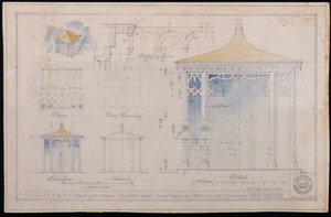 Architectural drawings of a gazebo, Cambridge, Mass.
