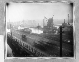 Charles River Bridge, general view, from Boston & Maine Railroad coal shed, Boston, Mass.