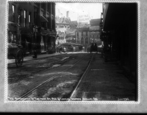 Depression in Tremont Street., sec.6, looking towards Scollay Square, Boston, Mass.