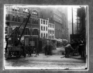 Work on sec.7 in Court Street, looking easterly from Pemberton Square, Boston, Mass.