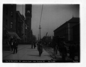 Sec. 3, Boylston St. looking east from Exeter Street, Boston, Mass., October 4, 1912