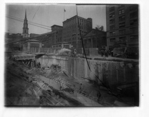 Enlargement of Park Street Station, Boston, Mass., October 5, 1914