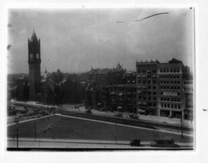 Copley Square, Boylston and Dartmouth Streets, looking north, Boston, Mass.