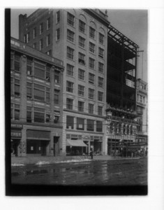 Wesleyan and new building Boylston St.