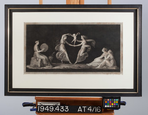 Framed engraving
