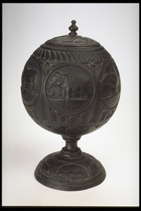 Carved Coconut Box