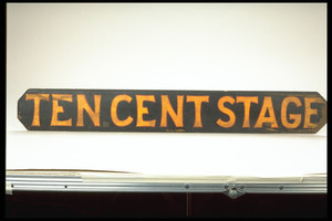 Painted Stage Coach Sign