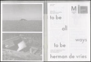 Dutch Pavilion : to be all ways to be. herman de vries : press kit