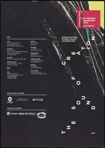 The Sound of Creation. Sound Paintings by Beezy Bailey and Brian Eno : Collateral Event Venice Biennale 2015 : exhibition materials