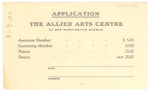 Allied Arts Centre application