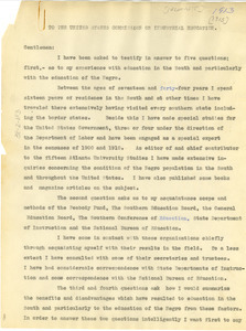 To The United States Commission on Industrial Education [fragment]