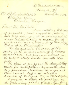Letter from Luther H. Ketels to W. E. B. Du Bois