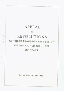 Appeal and resolutions