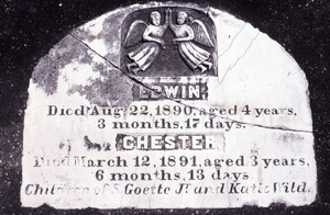 Ascension Cemetery (Donaldsonville, La.) gravestone: Goette, Edwin and Chester
