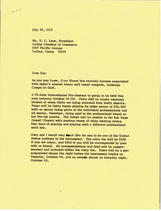 Letter from Mark H. McCormack to E. F. Laux