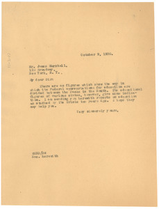 Letter from W. E. B. Du Bois to James Marshall