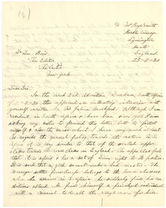 Letter from H. Sandwith to W. E. B. Du Bois