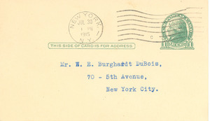 Letter from Century Metal Co. to W. E. B. Du Bois