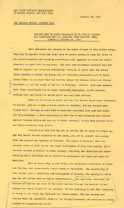 Advance text of radio broadcast by Dr. W. E. B. Du Bois