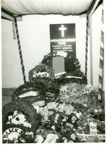 Commemorative wreaths in honor of W. E. B. Du Bois at his state funeral