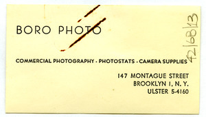 Boro Photo business card
