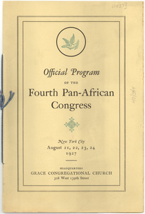 Official Program of the Fourth Pan-African Congress