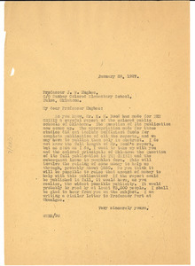 Letter from W. E. B. Du Bois to J. W. Hughes