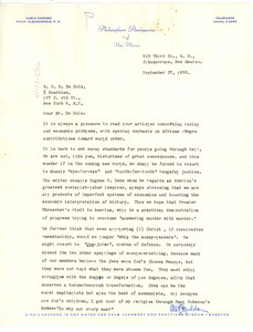 Letter from Philosophers Anonymous of New Mexico to W. E. B. Du Bois