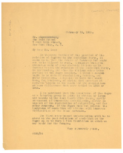 Letter from W. E. B. Du Bois to The Rand School