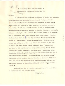 Letter from W. E. B. Du Bois to National Council of American-Soviet Friendship (U.S.)