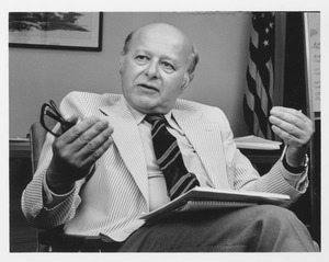 Henry Koffler sitting in his office