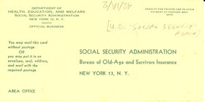 Claimant's report to Social Security Administration