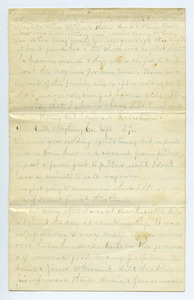 Letter from unidentified correspondent