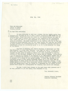 Letter from Cecilia Cabaniss Saunders to Letter