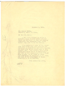 Letter from W. E. B. Du Bois to George Davis